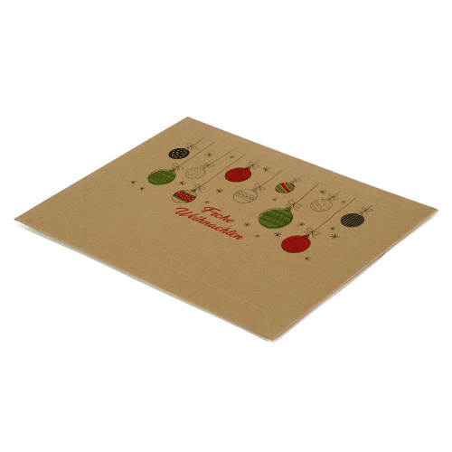 Solid Cardboard Envelopes With Christmas Motif