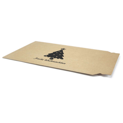 Corrugated Cardboard Envelopes With Christmas Motif