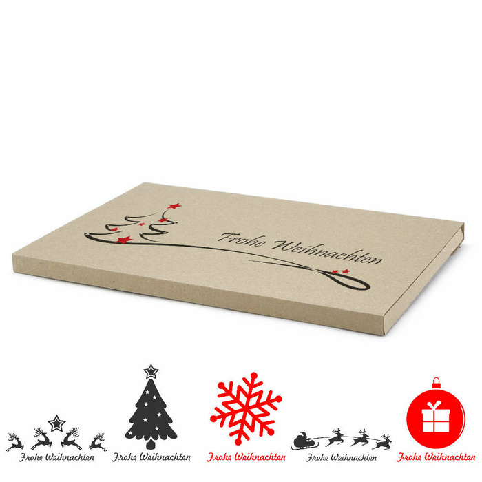 345x245x20 mm Large Letter Box (External Dimensions) With A Christmas Motif