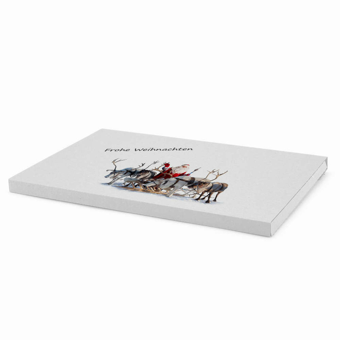345x245x20 mm Large Letter Box (External Dimensions) With A Christmas Motif, White