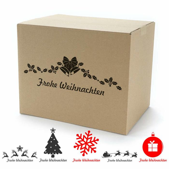 einwellige kartons 300x215x240 mm mit weihnachtsmotiv. Black Bedroom Furniture Sets. Home Design Ideas