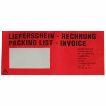 1000 Document Enclosed Bags With Window, DIN Long