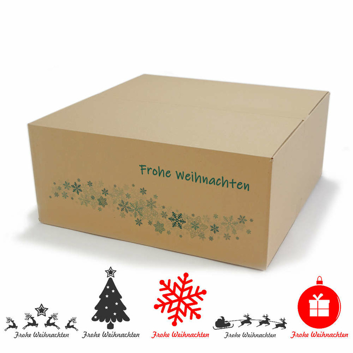 580x580x250 Mm Single Wall Cardboard Boxes With Christmas Motif At