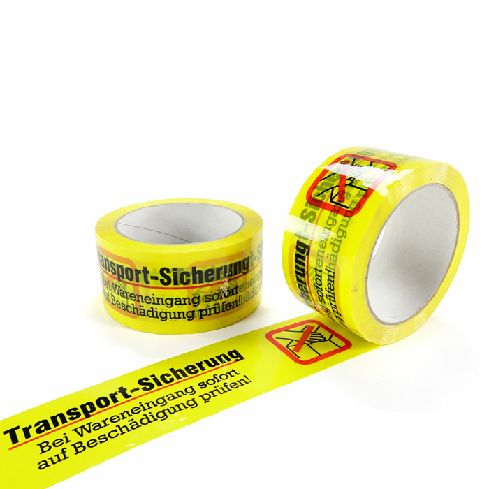 PP- Adhesive Tape Yellow Transport Safety