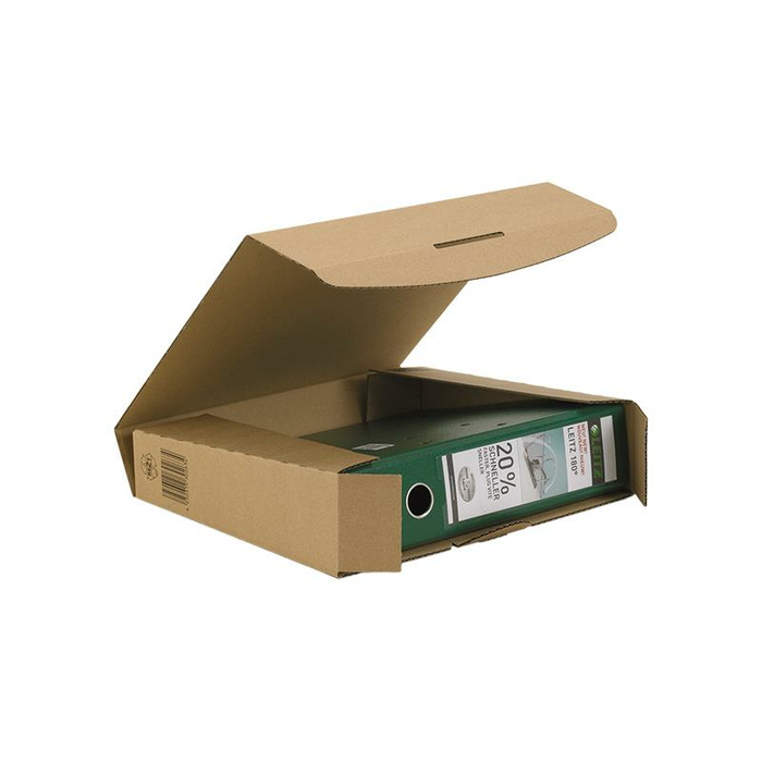 320x288x80 mm Ordner-Transport-Box A4 braun