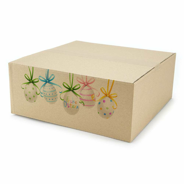 350x350x140 mm Single Wall Box With An Easter Motif