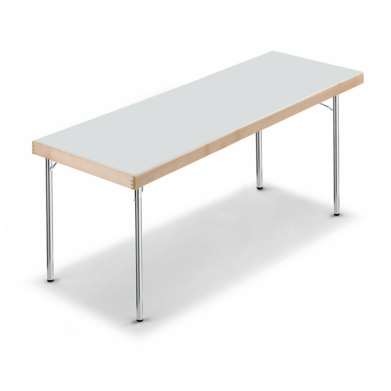 - 1700x700x720 Mm Folding Table With Chromed 4-Foot-Frame, Light