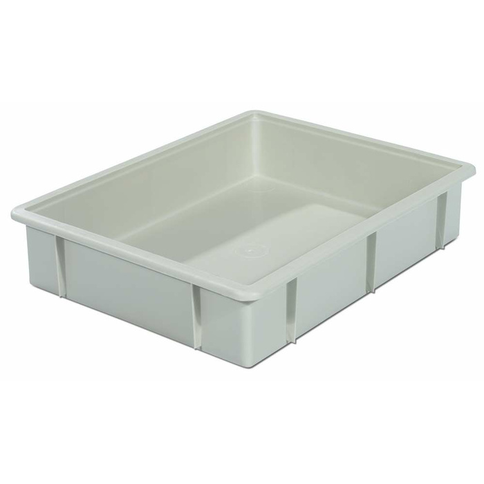 445x345x90 mm Plastic Stacking Container Grey, 10 Litres, VECTURA