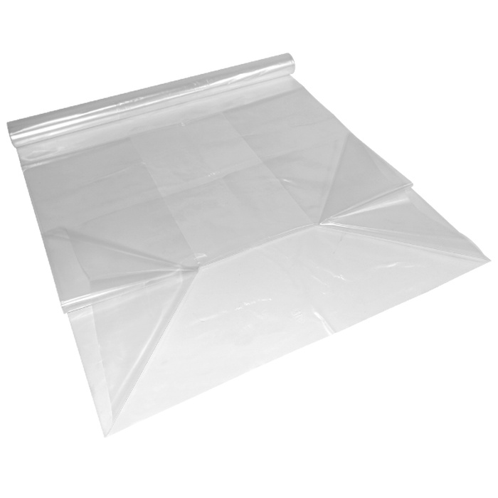 120 LDPE Gusseted Polythene Bags 500+300 x 1300 mm, 70 µ