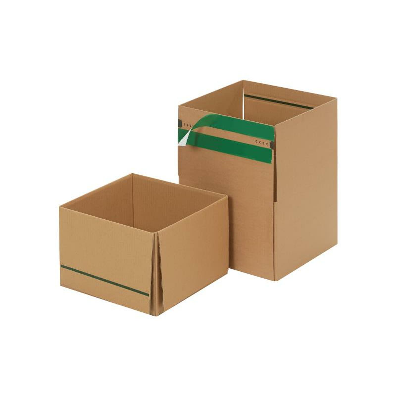 wiederverschlie bare kartons 284x284x167 mm g nstig kaufen 0 74. Black Bedroom Furniture Sets. Home Design Ideas