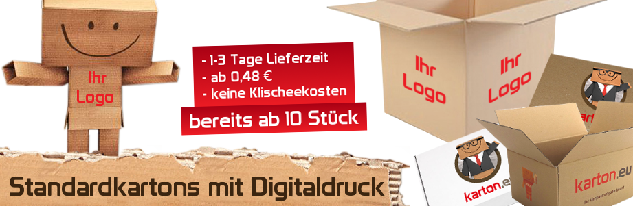 Standardkartons mit Digitaldruck